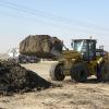 Chamness Technology Loader moving compost.
